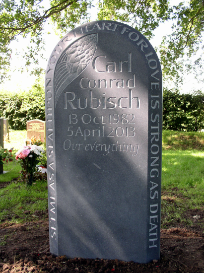 Headstones stone carving